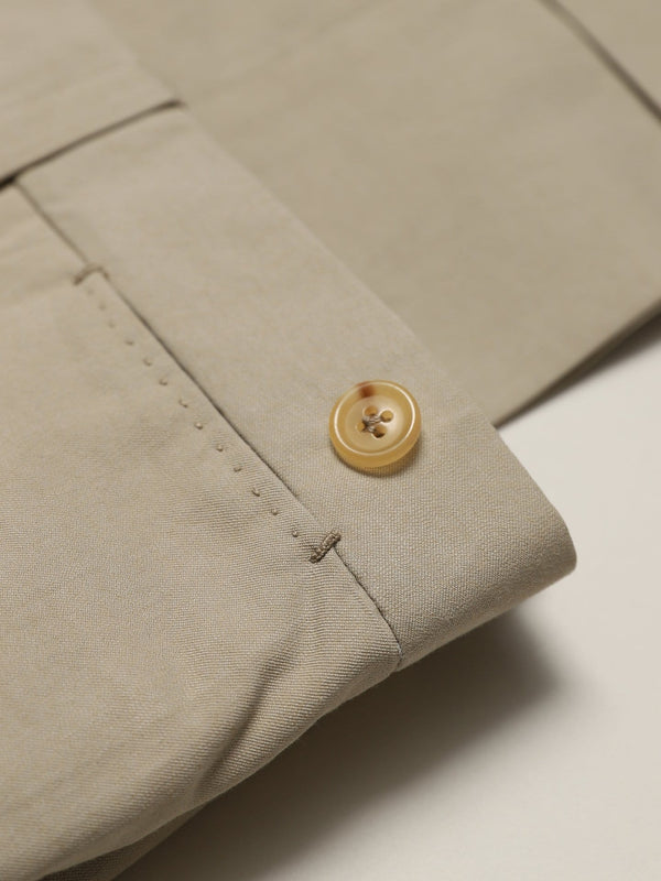 Sand Flat Front Cotton Twill 'Eames' Chinos