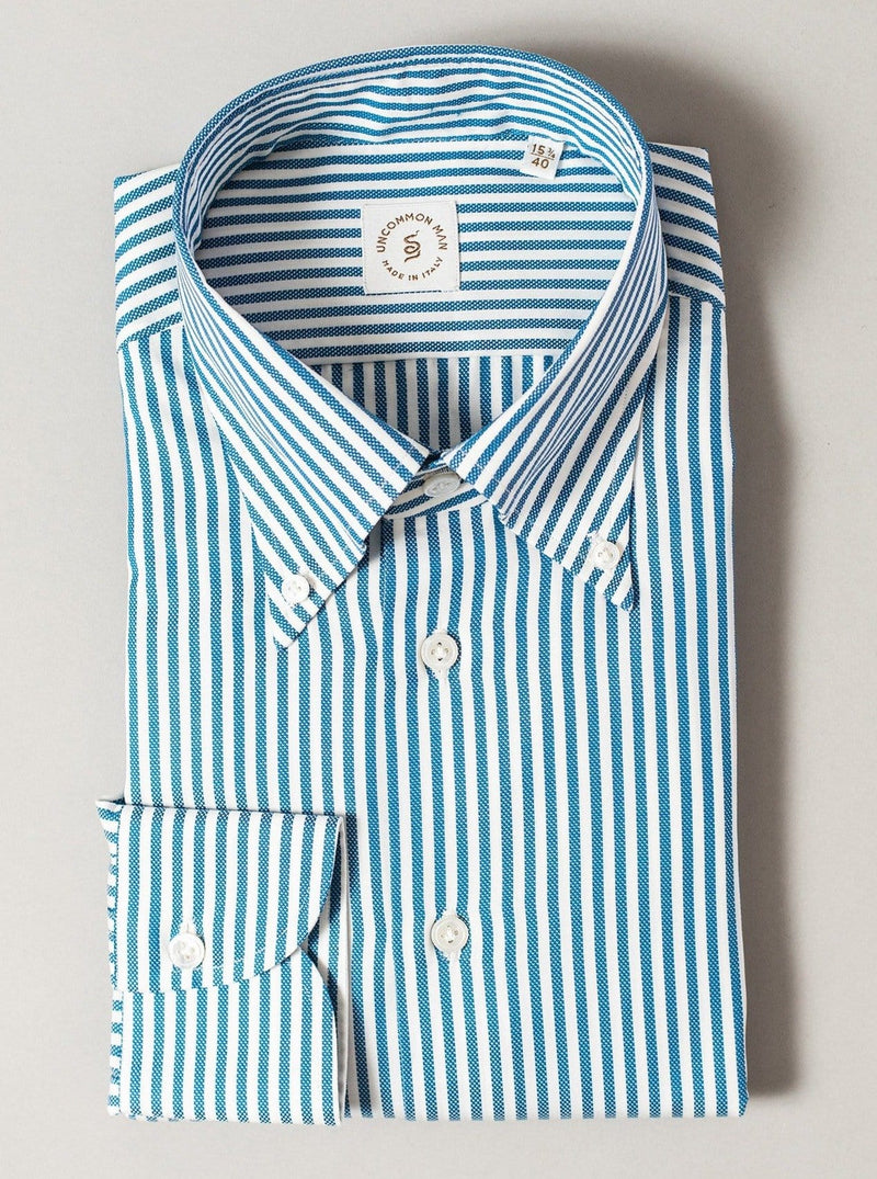 Blue Banker Stripe Shirt - MTM