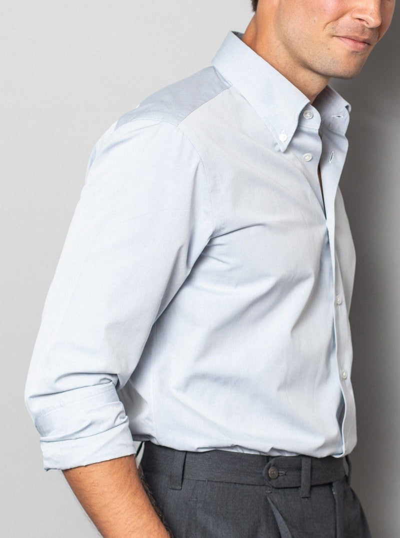 Soft Blue Button Down Collar