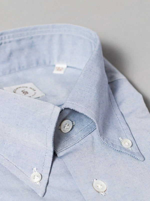 Ice Blue Button Down Collar Shirt