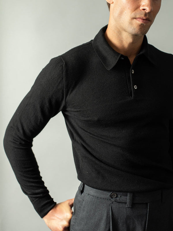 Black Polo - Loro Piana Cashmere