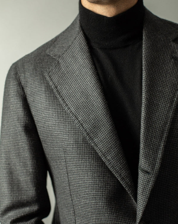 Houndstooth Cashmere SB Suit  - Custom Made