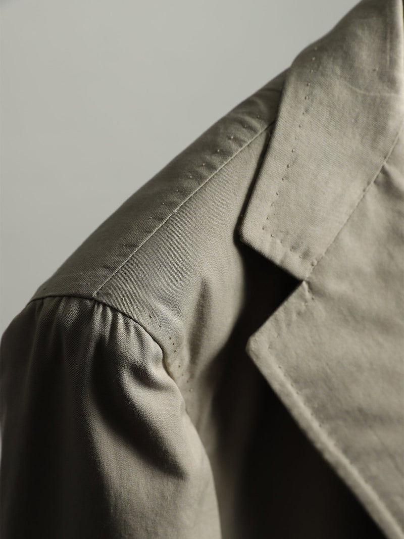 Sand Cotton Twill 'Henry' Jacket