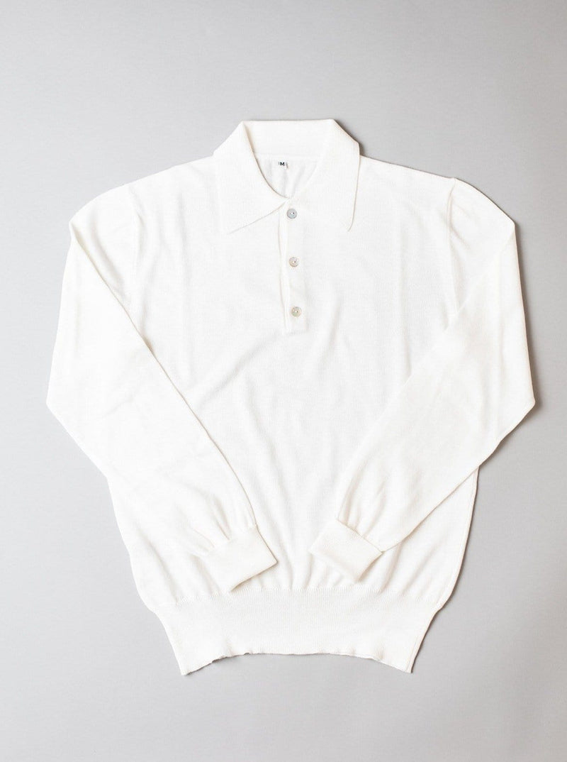 Polo-collar Sweater - Latte