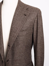 Brown Check Jacket - Wool/Cashmere - 50