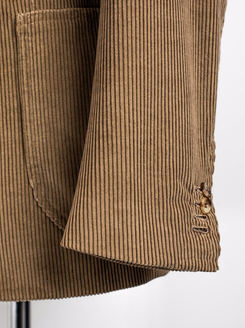 Brown Corduroy Jacket - Cotton - 52