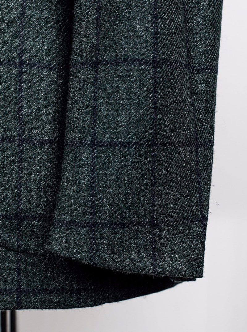 Green Check Jacket - Wool & Silk - 50