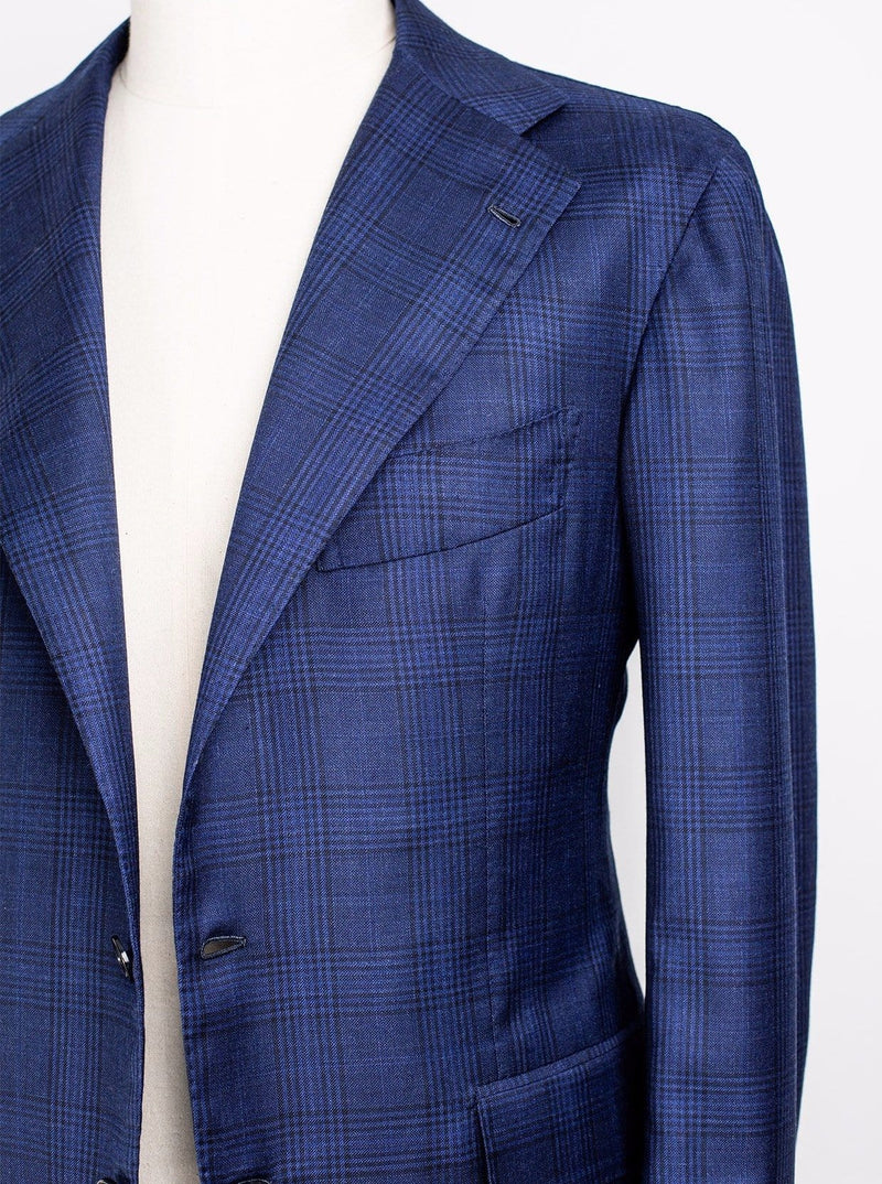 Loro Piana Blue Check -  Superfine Wool - 50