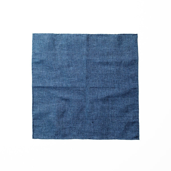 Chambray Pocket Square - Navy