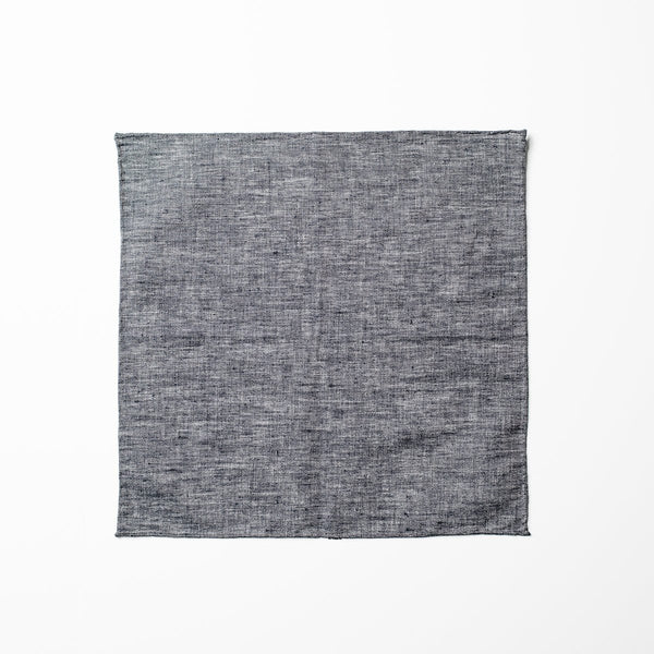 Chambray Pocket Square - Charcoal