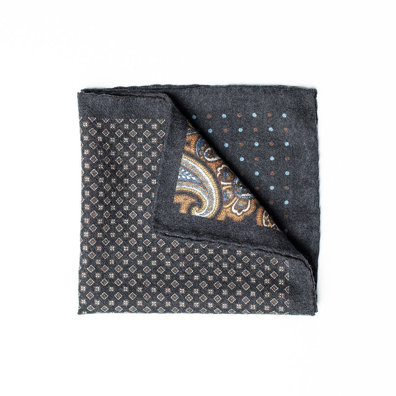 Double Sided Pocket Square - Blue