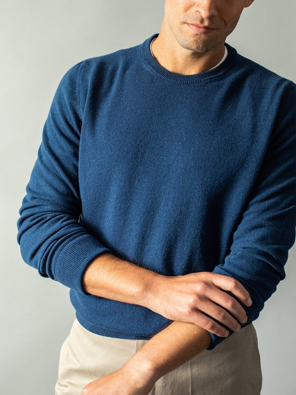 Wool and Cashmere-Blend Sweater - Ultramarine