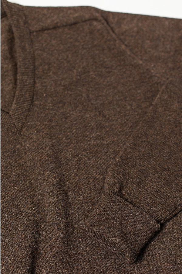 V-neck Pullover - Coffee