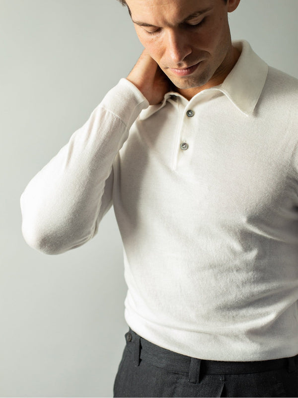 White Cashmere Polo