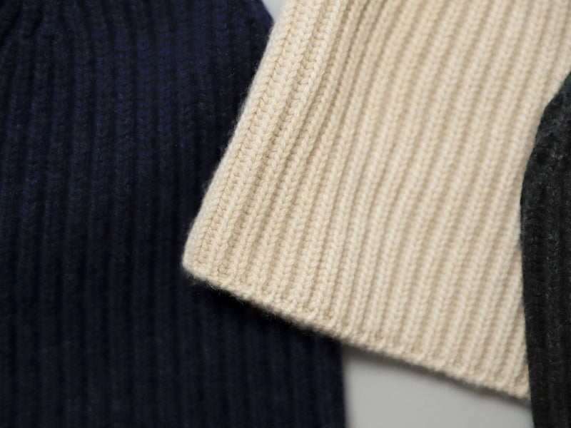 Cashmere Watch Cap - Ecru
