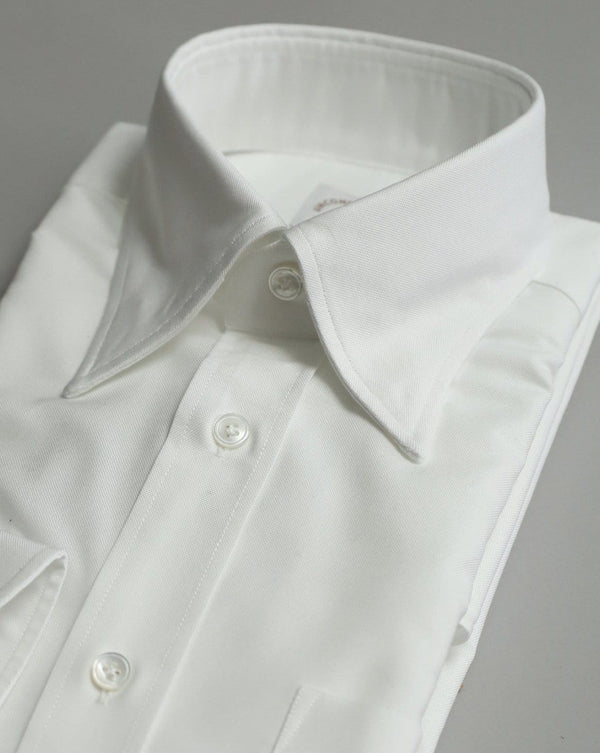 White Hidden Button Down Oxford Shirt