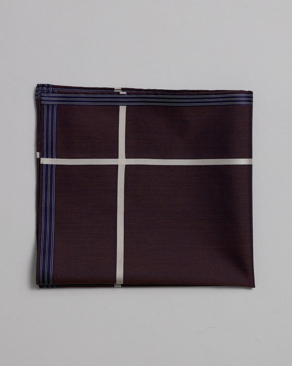 Violet Cotton Pocket Square