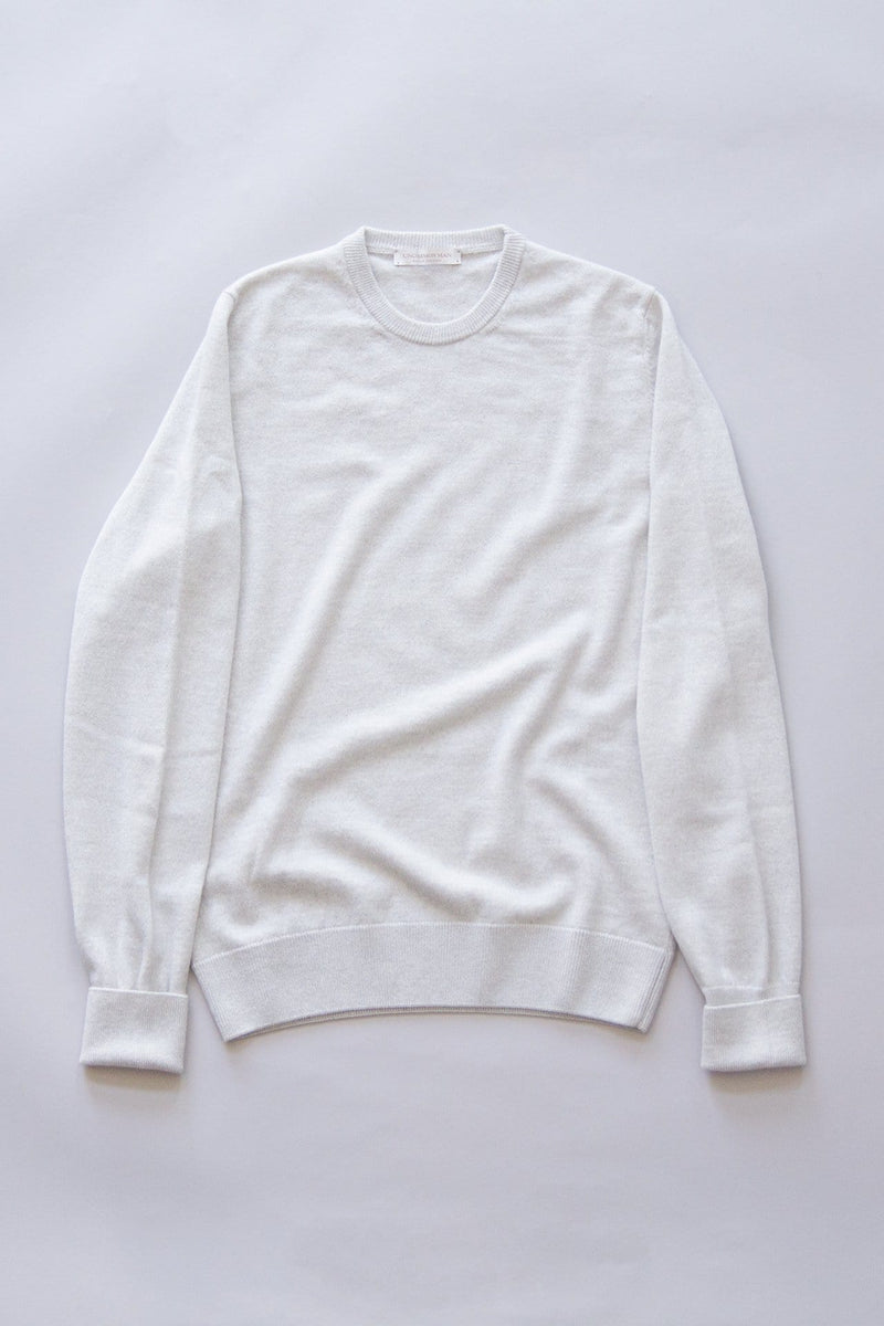 Wool/Cashmere Round Neck - Warm Grey
