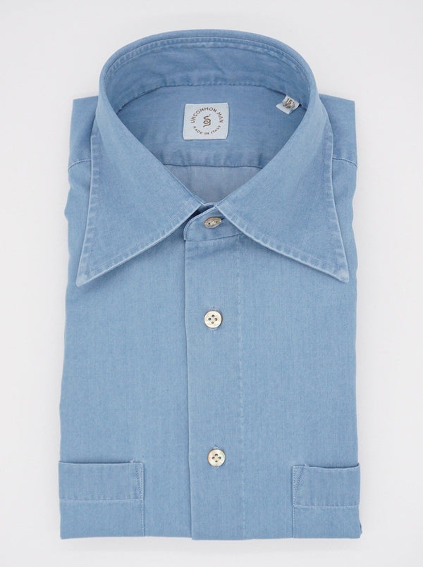 Cassidy Washed Denim Workshirt - Blue