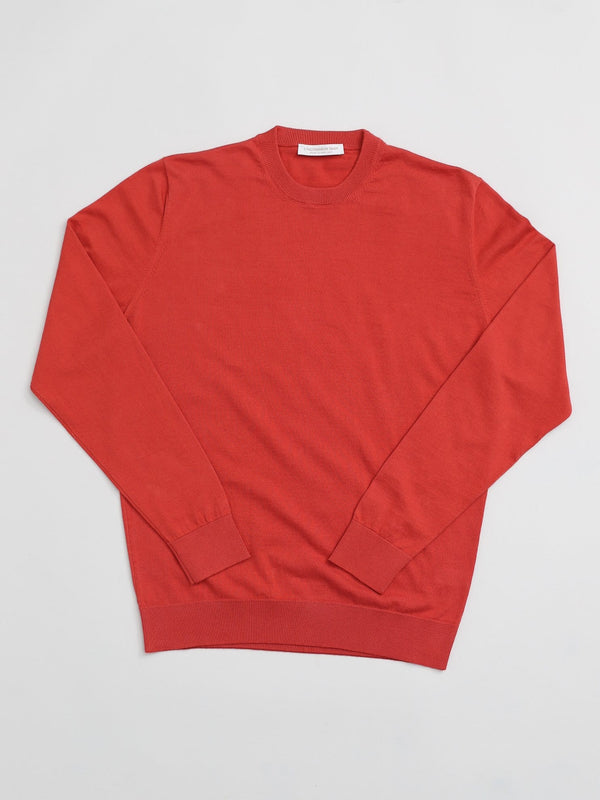 Cotton Cashmere Round Neck - Red Clay
