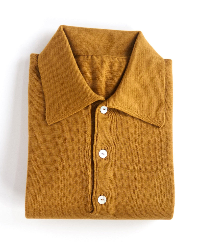 Polo-collar Sweater - Lark