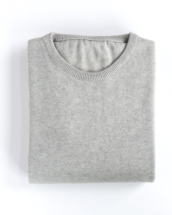 Round Neck Sweater - Warm Grey