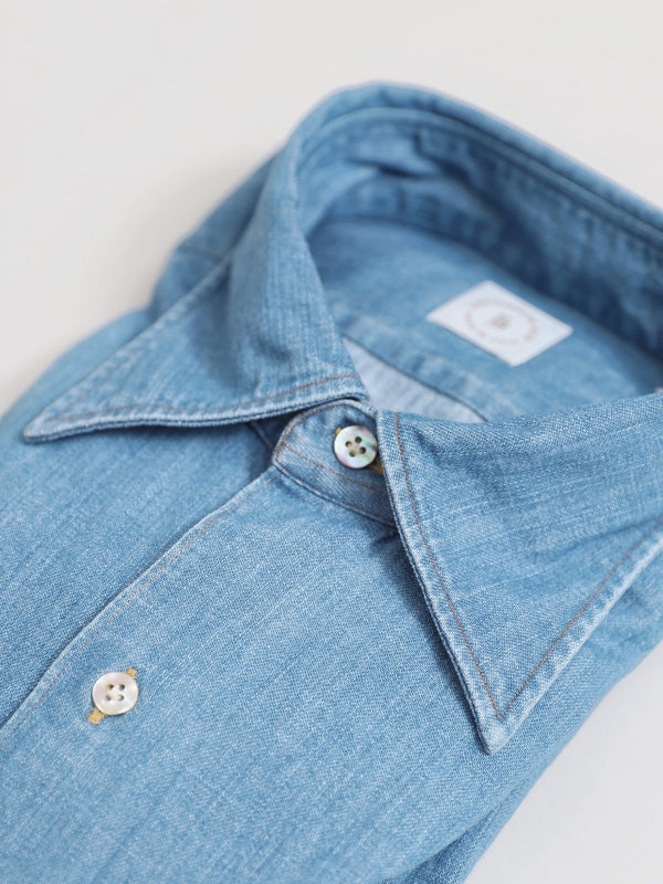 Mid Wash Denim 'Cassidy' Work Shirt