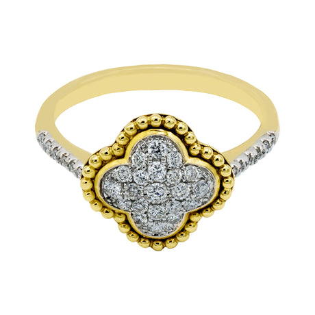 Clover Cut Diamond Ring