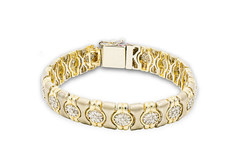 3 CT. Diamond Matt Finished Bracelet