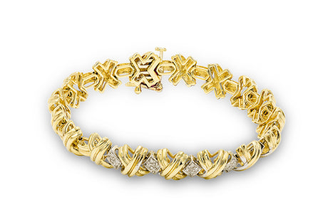 3/4 CT. Diamond Cross Design Bracelet