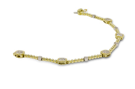 1/2 CT. Diamond Cable Style Bracelet