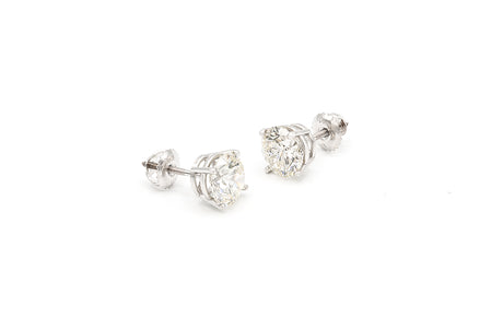 1.5 CT. Diamond Stud Earrings in 14K White Gold