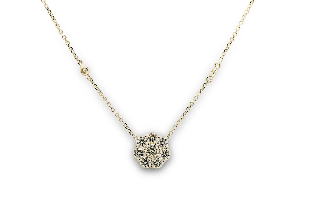 1 CT. Diamond Snow Flake Pendant in 14K White Gold