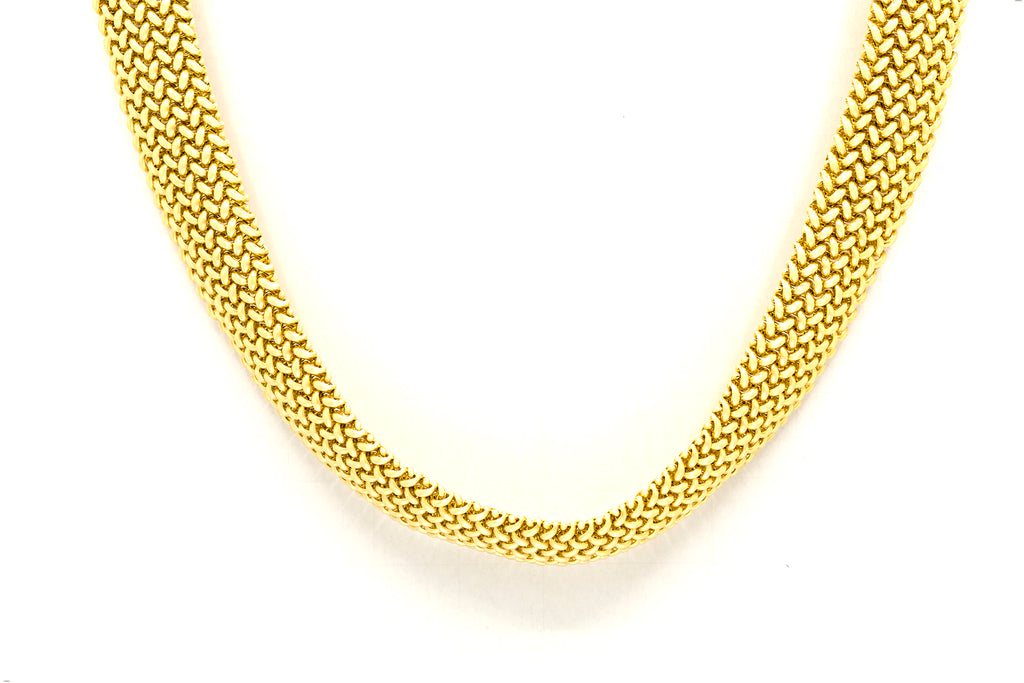 64 Grams Gold Mesh Choker Necklace in 14K Gold
