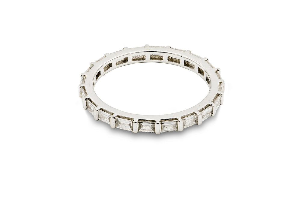 1 CT. Diamond Baguette Wedding Band in 14K White Gold