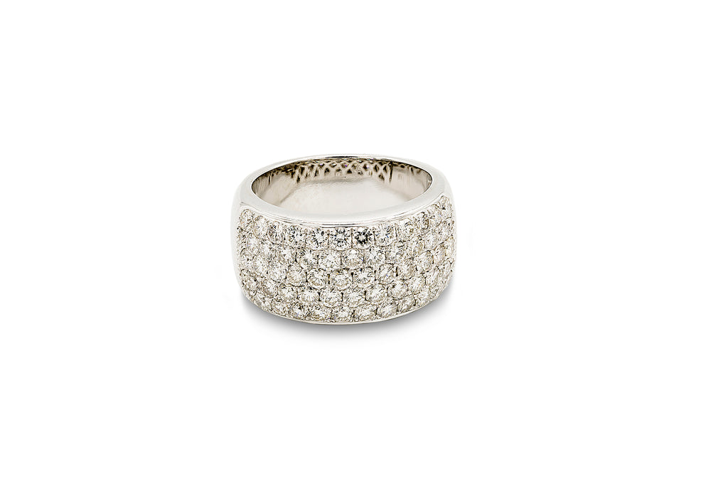 2 CT. Pave Set Wedding Band in 18K White Gold