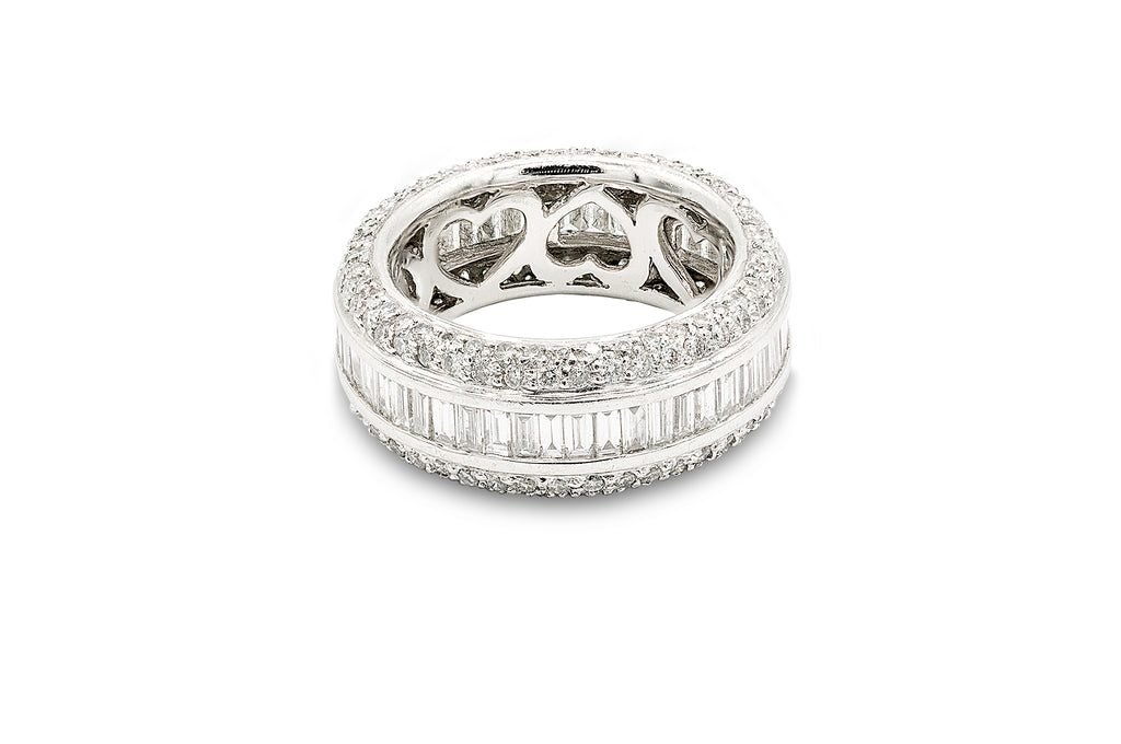 3 CT. Diamond Platinum Band in 14K Platinum