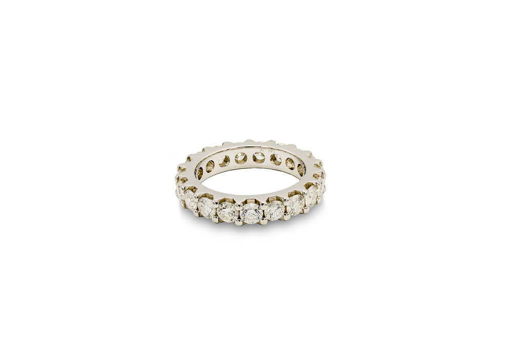 4 CT. Diamond Shared Prong Anniversary Ring in 14K White Gold