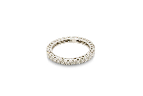 2 CT. Diamond Shared Prong Band in 14K Platinum