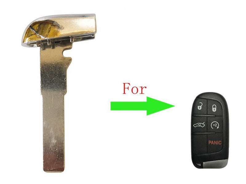 New High Security Emergency Key Replacement Blade Insert for Jeep Renegade 15-16