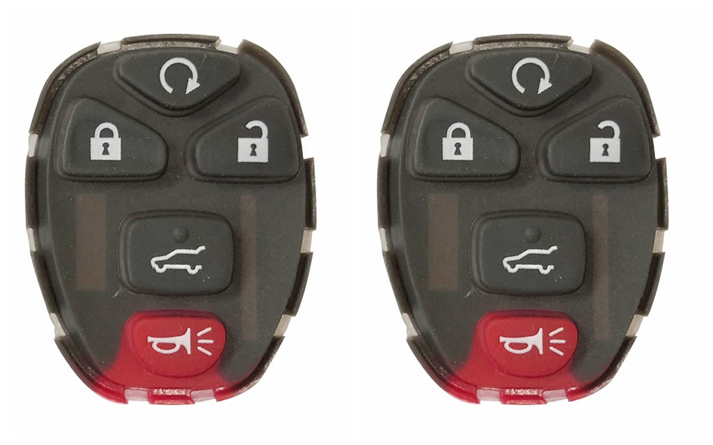 2PCS Keyless Remote 5 Button Key Pad Rubber for Buick LaCrosse Chevrolet Malibu