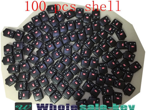 LOT 100 x BRAND NEW FORD 3 BUTTON KEY KEYLESS REMOTE FOB SHELL CASE + RUBBER PAD