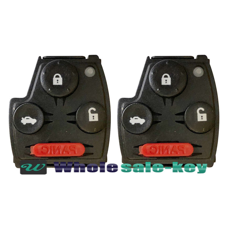 2 Key Keyless Remote Head Replacement Case Shell Pad Housing Buttons For Honda