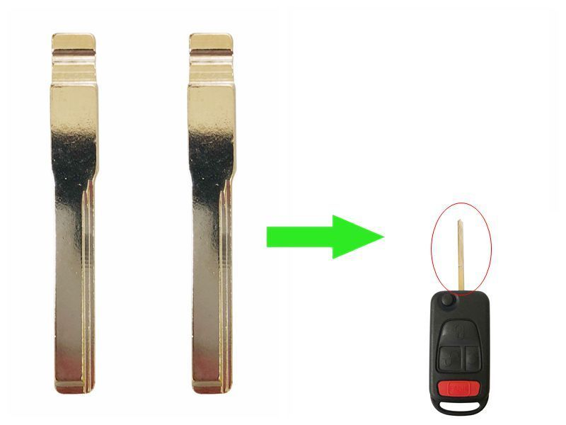 LOT 10 PCS  For Mercedes-Benz ML320 KR55 FLIP KEY BLADE SKU: CK-B07