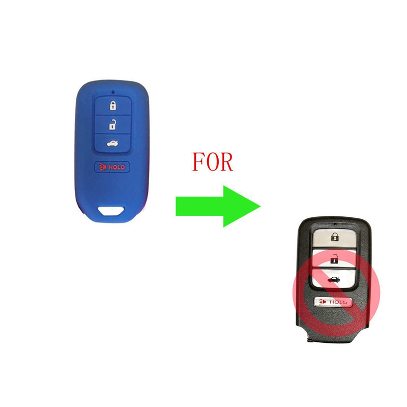 2Silicone Remote Key Skin Protector Cover Case Fob Shell For Honda Accord Civic