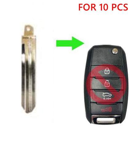 LOT 10 FLIP REMOTE KEY BLADE FOR KIA OSLOKA-870T HY15 SKU: CK-G23