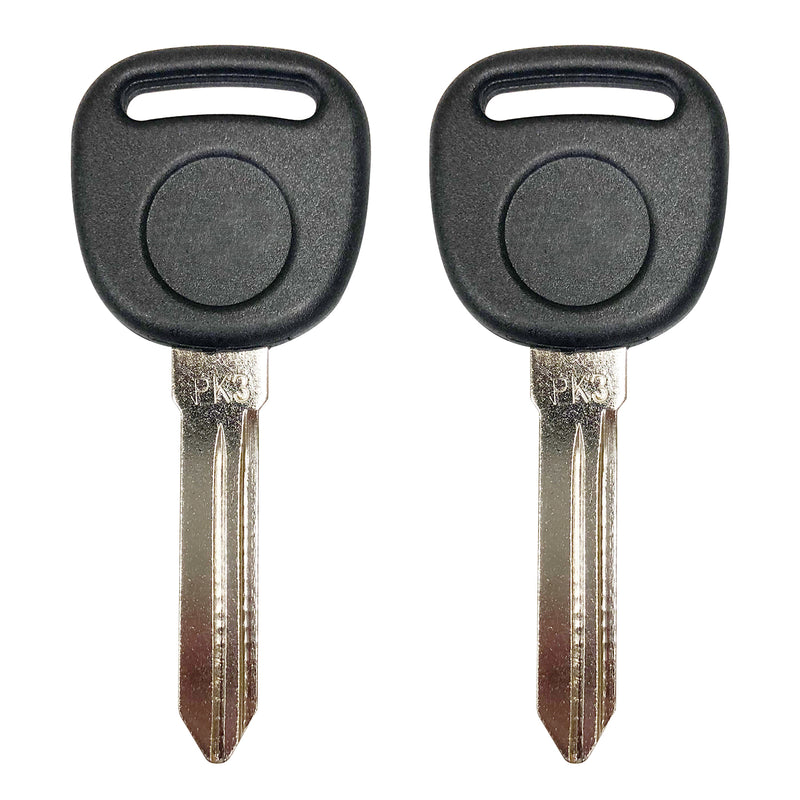 2 New Uncut Pk3 Transponder Chip Ignition Key Uncut Blade Blank For Gm B99PT