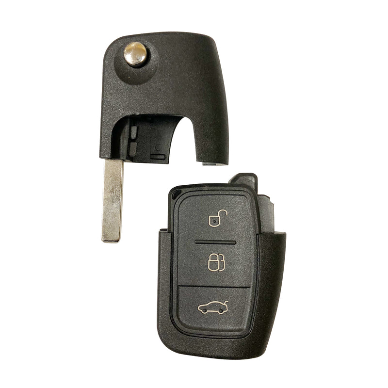 3 Button Uncut Flip Folding Remote Key Fob Case Shell For Ford Focus Fiesta