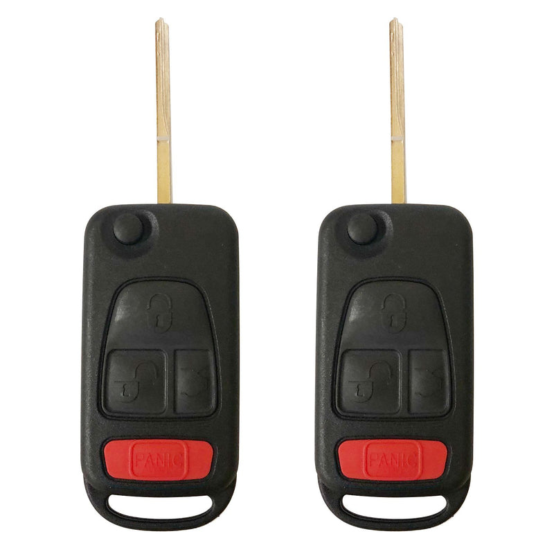 2X New replacemen Mercedes Benz ML 320 430 500 Key Fob CASE Shell and Blade