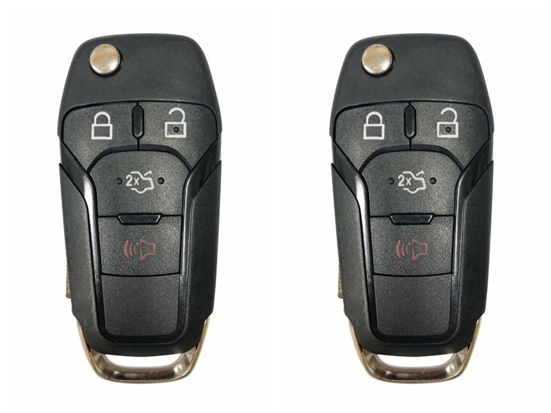 2 NEW REPLACEMENT FLIP KEY KEYLESS REMOTE CASE FOR FORD FUSION N5F-A08TAA